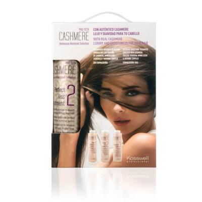 Kosswell Cashmere pack, zestaw do kaszmirowego prostowania włosów