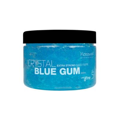 Kosswell Crystal Blue Gum 200ml, mocna guma do włosów
