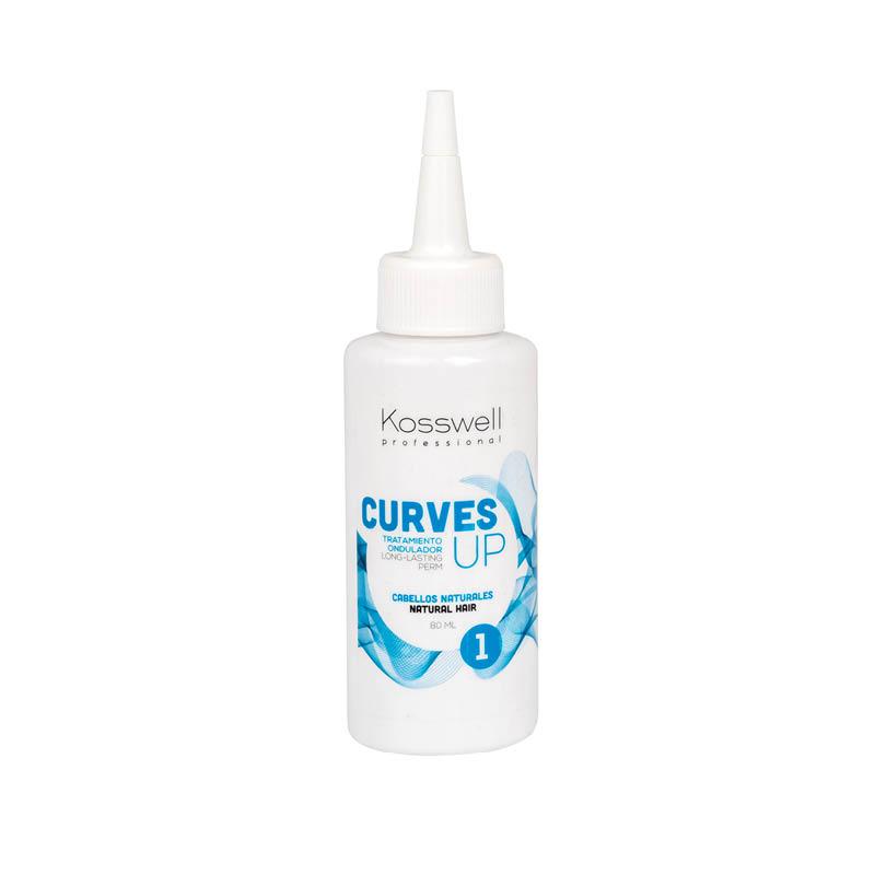 Kosswell Curves UP 1 80ml, płyn do trwałej ondulacji, do włosów normalnych