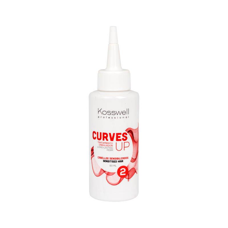 Kosswell Curves UP 2 80ml, płyn do trwałej ondulacji, włosy wrażliwe