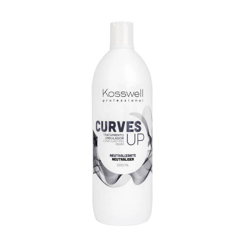 Kosswell Curves UP Neutral 1000ml, utrwalacz do płynów do trwałej ondulacji