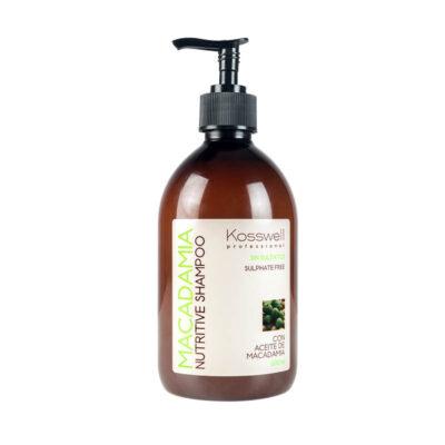 Kosswell Macadamia Nutritive Shampoo 500ml, szampon z olejkiem macadamia