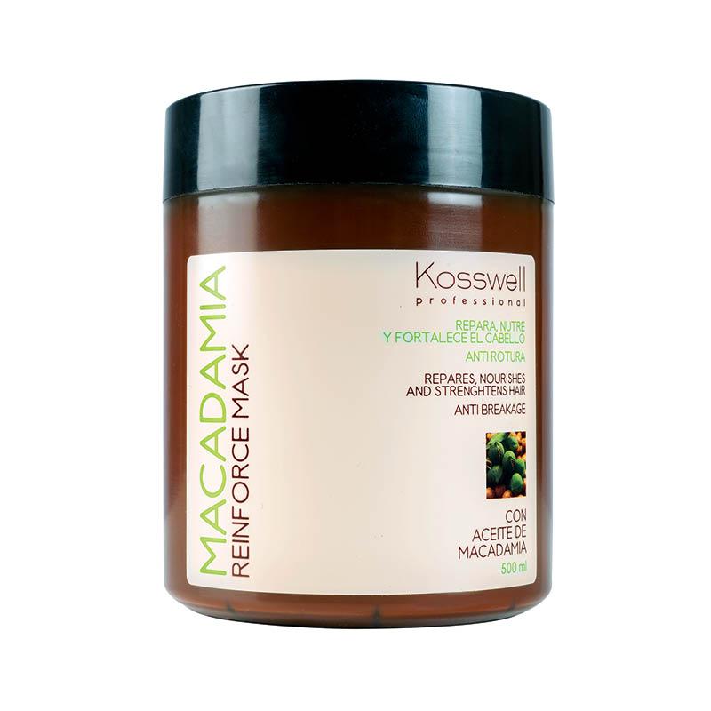 Kosswell Macadamia Reinforce Mask 500ml, maska do włosów z olejkiem macadamia