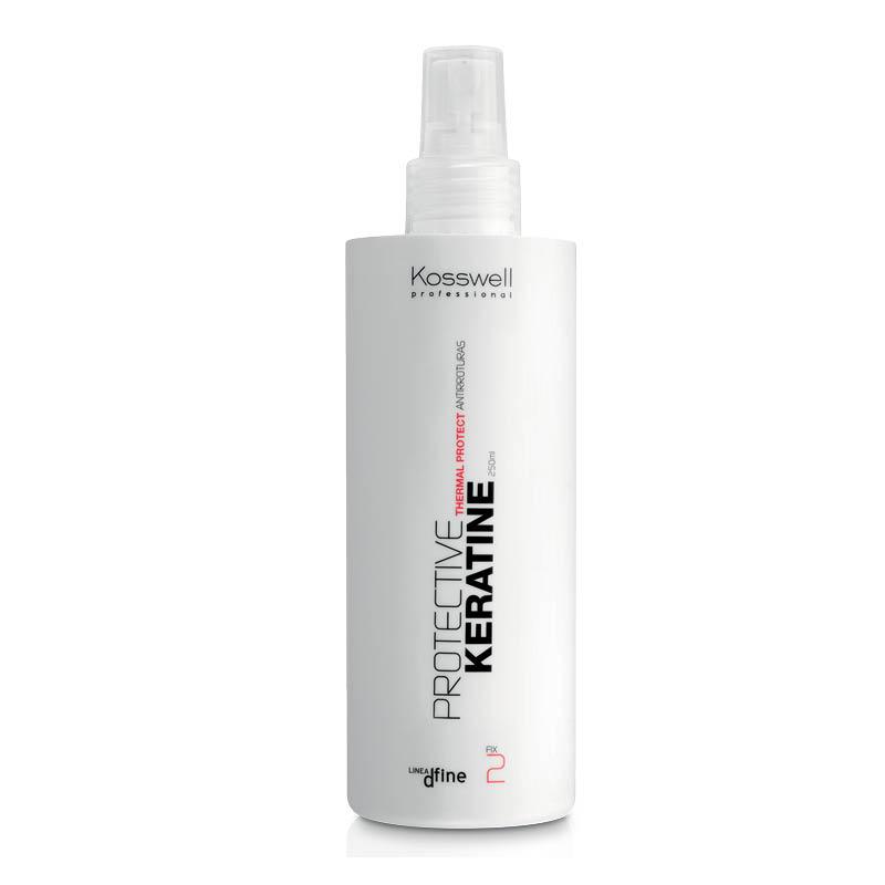 Kosswell Protective Keratine 250ml, spray chroniący włosy przed ciepłem